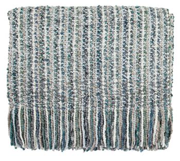 Picture of Throw Blanket Stria-Frost