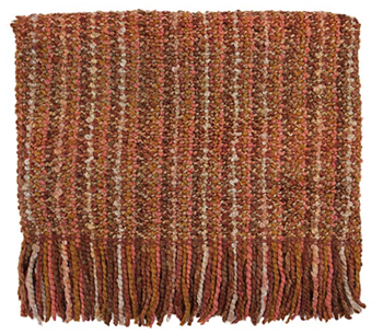 Picture of Throw Blanket Stria-Paprika