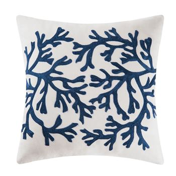 "Picture of Blue Coral Pillow 18"" x 18"""