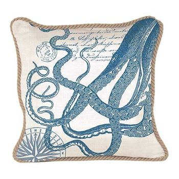 "Picture of Octopus Collection Pillow 18""x 18"""
