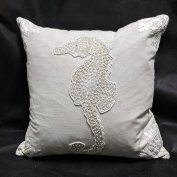 "Picture of Oona Seahorse Pillow 20""x20"""