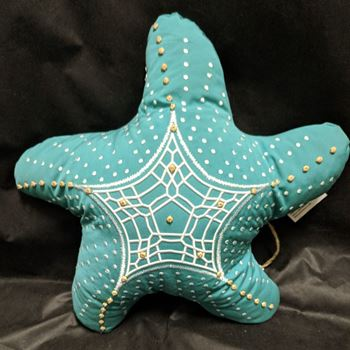 Picture of Starfish Shaped Outdoor Pillow-Aqua Turquoise 22""
