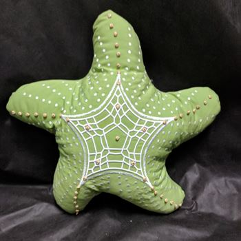 Picture of Starfish Shaped Outdoor Pillow-Kiwi Green 22""