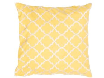 "Picture of Moroccan Yellow/Gold Pillow 20""x20"""