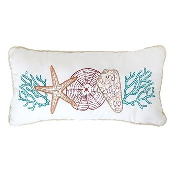"Picture of Multi Sealife White Pillow Rope Trim 12""x 24"""