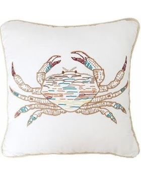 "Picture of White Rope Crab Pillow 18""x 18"""