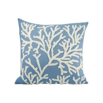 "Picture of Coralyn Blue Pillow 20""x 20"""