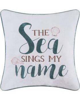 "Picture of The Sea Sings My Name Pillow 16""x16"""