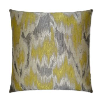 "Picture of Watermark Pillow Yellow 24"" x 24"""