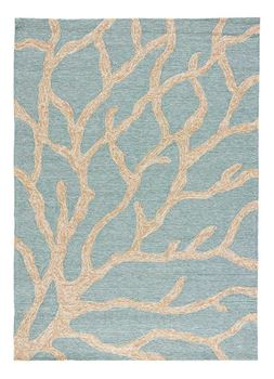 Picture of Coastal Lagoon Coral Teal Latte 2'x 3'