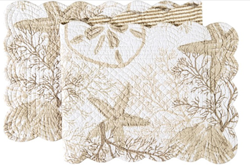 """Picture of Table Runner Barefoot Landing 14""""x 51"""""""