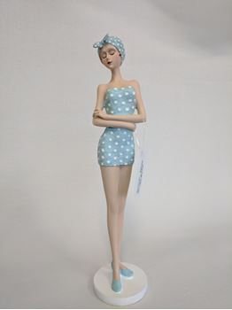 Picture of Vintage Beach Lady Figure Blue