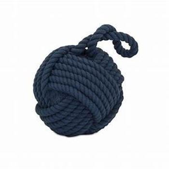 Picture of Hauer Blue Nautical Rope Ball